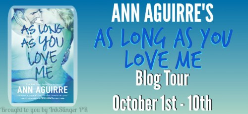 Blog Tour: As Long As You Love Me (2B Trilogy #2) by Ann Aguirre | Review + Giveaway